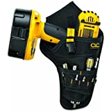Custom Leathercraft 5023 Deluxe Cordless Poly Drill Holster, Black