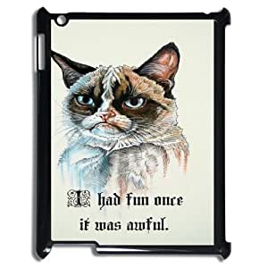 For Ipad 2/3/4 Case Smart Cat Art Pattern Protective Back Case-Style-8