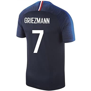 81f42ad0e Image Unavailable. Image not available for. Color  LINjsy 2018 Russia World  Cup GRIEZMMAN 7  France Home Soccer Jersey ...