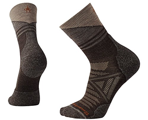 Smartwool Mens PhD Outdoor Light Pattern Mid Crew Socks (Chestnut) Large