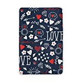 Vantaso Soft Blankets Throw I Love You Heart And Diamond Red Blue Blankets for Bedroom Sofa Couch Living Room for Kids Children Girls Boys 60 x 90 inch