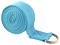 Fit Spirit 8ft Fitness Exercise Yoga Strap - Blue