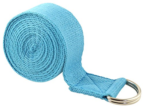 Fit Spirit Fitness Exercise Yoga Strap 6ft, 8ft, 10ft – Pick Your Color and Size – DiZiSports Store
