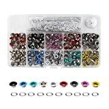 3 16 rivet washers - Okdeals Grommet Kit with 300 Pieces 3/ 16 Inch Metal Eyelets for Bag, Shoes, Clothes Crafts, DIY Project, 10 Colors