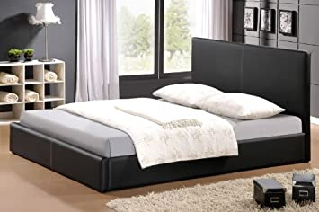 Designerbetten Lederbetten Modell Leder Bett In Schwarz 140x200
