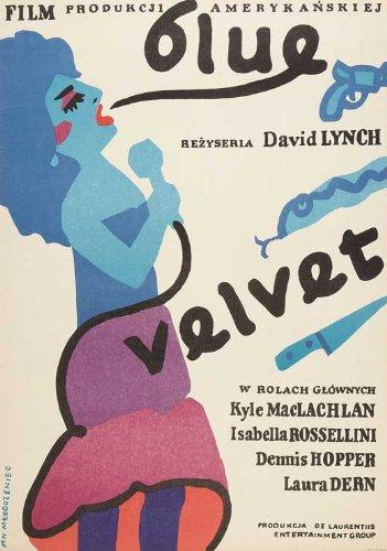 Blue Velvet Poster Movie Polish Kyle MacLachlan Isabella Rossellini Dennis Hopper Laura Dern Hope