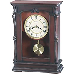 Bulova B1909 Abbeville Clock, Walnut Finish