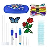 Magic Embroidery Pen Punch Needle, Embroidery Pen Set Craft Tool Embroidery Patterns Punch Needle Kit Knitting Sewing Tool for DIY Threaders Knitting Sewing Tool (Blue)