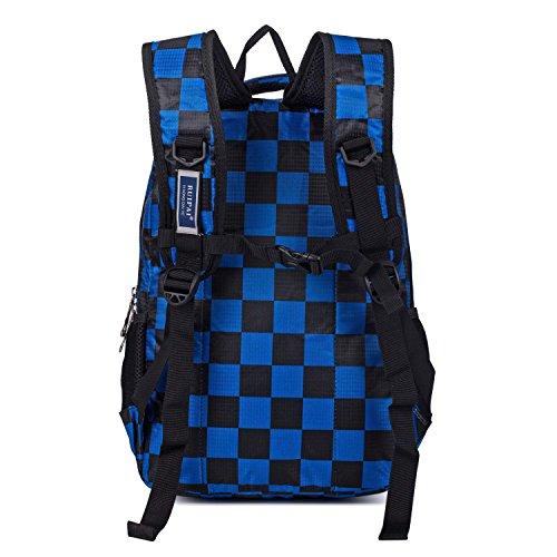 and for Lightweight Shoulder Blue Children Bag Daypack Girls Kids Backpack Grid Boys School Rucksack Camouflage HnTPwqxA