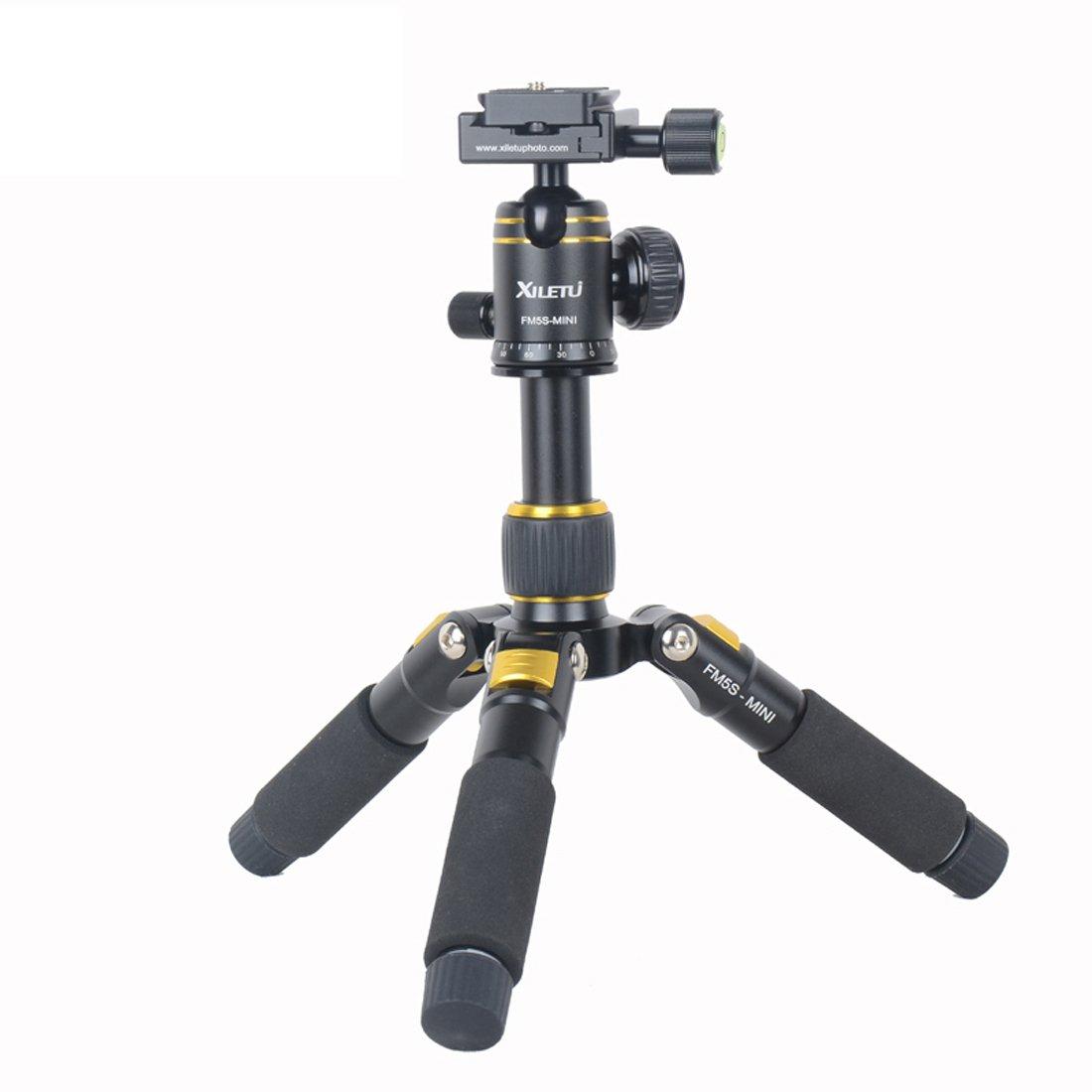 xiletu fm5s-miniテーブルトップ三脚とボールヘッドキットfor DSLRミラーレスカメラスマート電話& # xff08 ; Golden & # xff09 ;   B07236GTYS