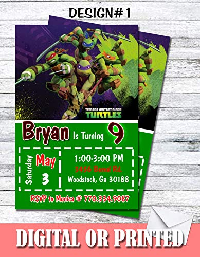 Ninja Turtles Personalized Birthday Invitations More Designs Inside!]()