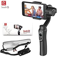 Zhiyun Smooth-Q 3-Axis Handheld Gimbal Stabilizer for Smartphone iPhone X/ 8/ 7/7Plus /6/6Plus Samsung Galaxy S8+/S8/S7/S6/S5 Gopro (3.5-6inch/75-200g) Wireless Control Vertical Shooting Panorama Mode