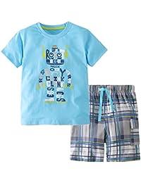 Little Boy Short Set Summer Cotton Clothing Set Essential...