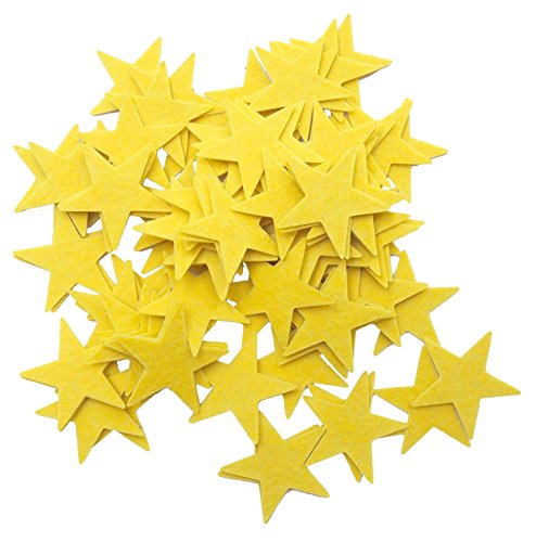 Playfully Ever After 1.5 Inch Yellow 85 pc Felt Star Stickers]()