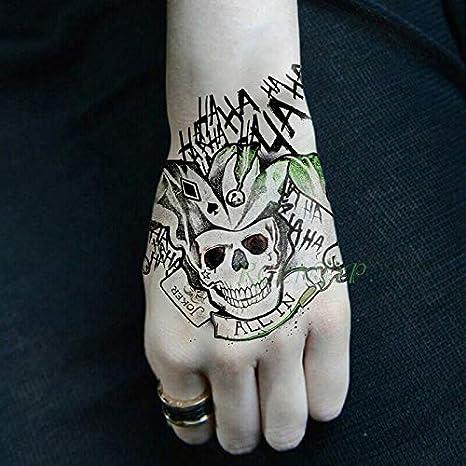 tzxdbh Impermeable Temporal Etiqueta Engomada del Tatuaje Suicidio ...