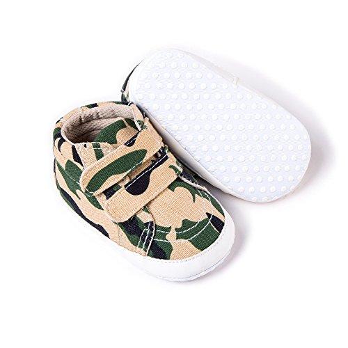 JUNLONG , Baby Jungen Lauflernschuhe grau/camouflage 0-3months grün/camouflage