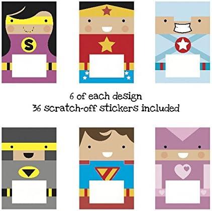 Pack de 36 tarjetas de recompensa para rascar, 6 diseños distintos ...