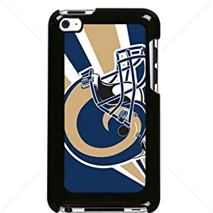 NFL American football St. Louis Rams Fans Apple iPod Touch iTouch 4th Generation Hard Plastic Black or White cases (Black)