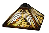 14 Inch Sq Nuevo Mission Shade Theme MISSION ART GLASS Product Family Nuevo Mission
