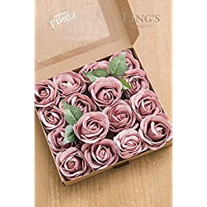 Ling's moment Real Looking Fake Peony Artificial Peonies Flowers w/Stem for DIY Wedding Bouquets Centerpieces Arrangements Party Baby Shower Home Decorations 4