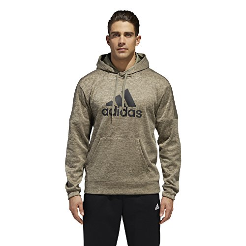 adidas Men's Athletics Team Issue Full-Zip Fleece Hoodie, Trace Cargo Melange, Large (Cargo Hoody Fleece)