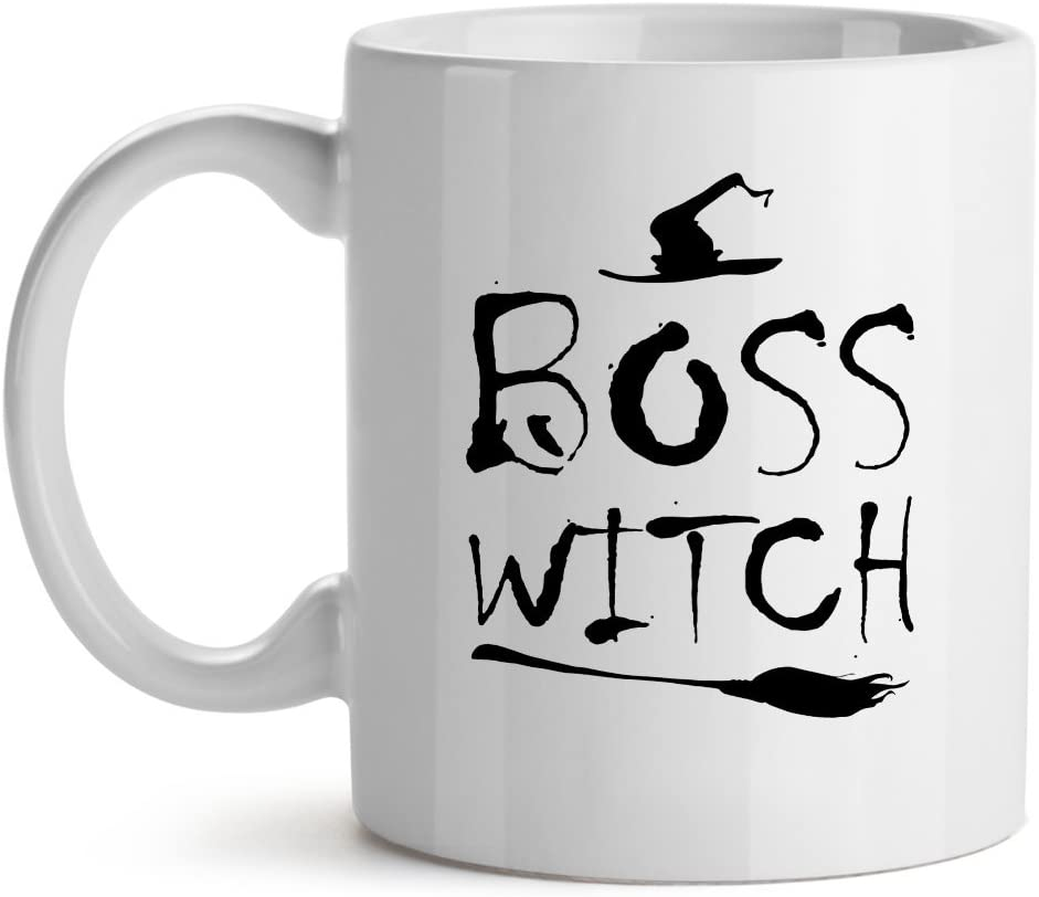 Boss Witch Feminist Office Cool - Mad Over Mugs - Inspirational Unique Popular Office Tea Coffee Mug Gift 15OZ