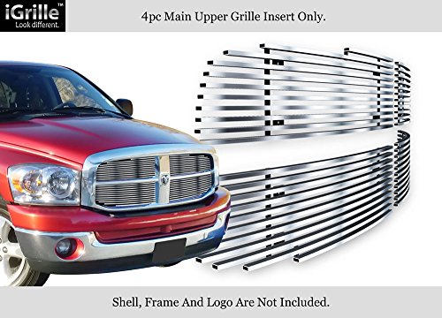 - APS Compatible with 06-08 Dodge Ram Stainless Steel Main Upper Billet Grille Insert N19-C91756D