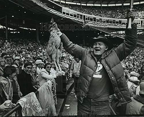 1982 Press Photo Milwaukee Brewers World Series, fan, Roy Halm - mjt10332