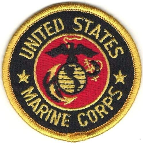 (Iron On Embroidered Patch Top Quality US Military USMC Seal of The United States Marine Corps 2.5