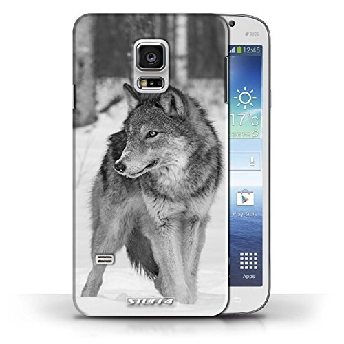 Hülle Case für Samsung Galaxy S5 Mini / Wolf Entwurf / Zoo-Tiere Collection