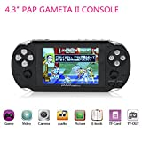 "Handheld Games Consoles,HLZKU 64Bit Classic Video Game Players 4.3"" PAP GametaII Plus With 600 Games Gifts for Kids Children"