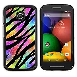 Caucho caso de Shell duro de la cubierta de accesorios de protección BY RAYDREAMMM - Motorola Moto E - Hippie psicodélico Universo Colores