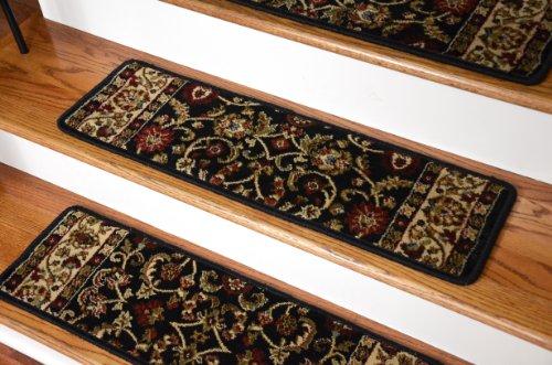 Dean Non-Slip Tape Free Pet Friendly Stair Gripper Carpet Stair Treads - Classic Keshan Ebony 31