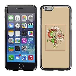 EJOY---Cubierta de la caja de protección la piel dura para el / iPhone 6 / --Asian Dream Dragón