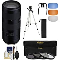 Tamron 70-210mm f/4.0 Di VC USD Zoom Lens with 3 Filters + Tripod + Kit for Canon EOS Digital SLR Cameras