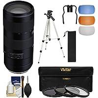 Tamron 70-210mm f/4.0 Di VC USD Zoom Lens with 3 Filters + Tripod + Kit for Nikon Digital SLR Cameras