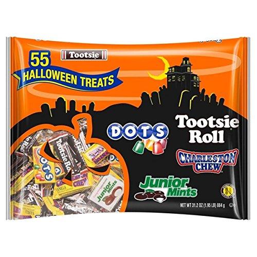 Tootsie Roll Assorted Bulk Candy Bag, Bag of 55