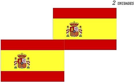 Acobonline Bandera España Grande, Pack 2 Bandera de España, Resistente a la Intemperie, 90 x 150 cm (Bandera España): Amazon.es: Deportes y aire libre