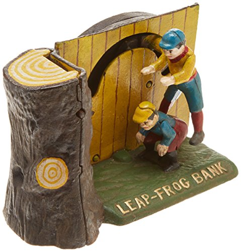 (Design Toscano Leap Frog Collectors' Die-Cast Iron Mechanical Coin Bank)