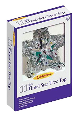 Celebrations 4951-71 Tinsel Star Tree Top assorted gold or silver star by Celebrations (Image #2)