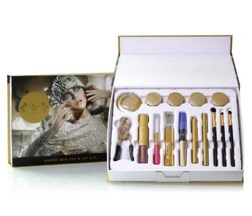 Amore Mio Cosmetics par Oro or 24K Cosmétiques Lèvres et Yeux kit