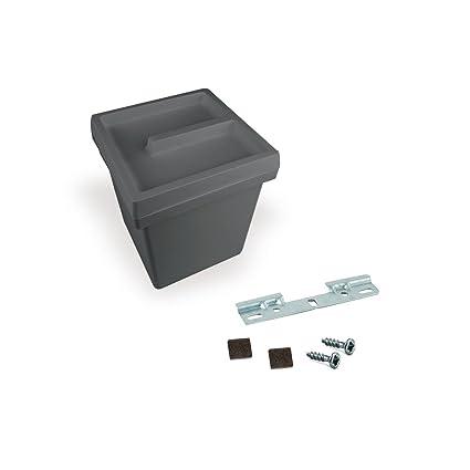 Contenedor Onda Emuca de 5 litros con tapa y pletina para colgar en  plástico gris antracita d5c76ef9162e