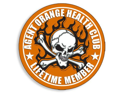 American Vinyl Round Agent Orange Health Club Sticker Vietnam Veteran Vet Lifetime Member
