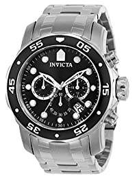 Invicta Men's 0069 Pro Diver Collection Chronograph Stainless Steel Watch