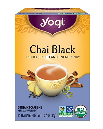 Yogi Tea, Chai Black, 16 Count (Pack of 6), Packaging May Vary