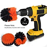 Funceter Drill Brush Attachment,Drill Powered Cleaning Brush,Bathroom Surfaces Tub, Shower, Tile and Grout Drill Brush,All Purpose Cleaner Scrubbing Brushes for Home and Kitchen or Wheel
