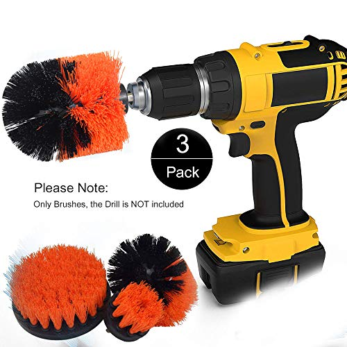 Funceter Drill Brush Attachment,Drill Powered Cleaning Brush,Bathroom Surfaces Tub, Shower, Tile and Grout Drill Brush,All Purpose Cleaner Scrubbing Brushes for Home and Kitchen or Wheel (Best Alloy Wheel Cleaner)