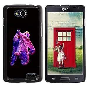 YOYOYO Smartphone Protección Defender Duro Negro Funda Imagen Diseño Carcasa Tapa Case Skin Cover Para LG OPTIMUS L90 D415 - pulpo púrpura buceo monstruo Kraken
