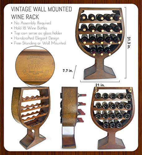 CoTa Global Wine Glass Shaped Wall Mounted Wine Rack