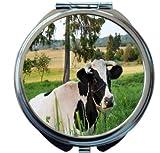 Rikki Knight Cow on Farmland Design Round Compact Mirror